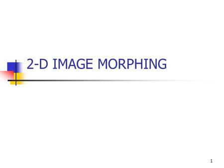 morphing in computer graphics pdf