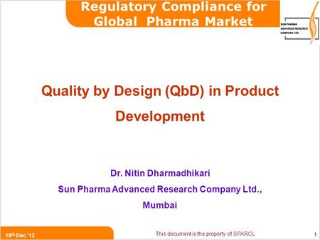 analytical quality by design qbd in pharmaceutical development pdf