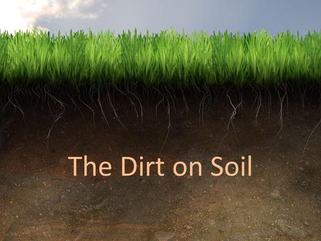 The Dirt on Soil.