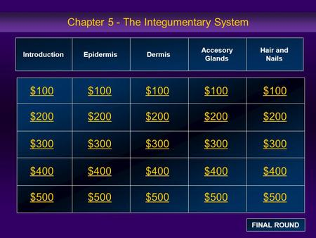Chapter 5 - The Integumentary System