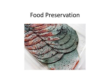 Food Preservation. Write down your top 3 things to eat: