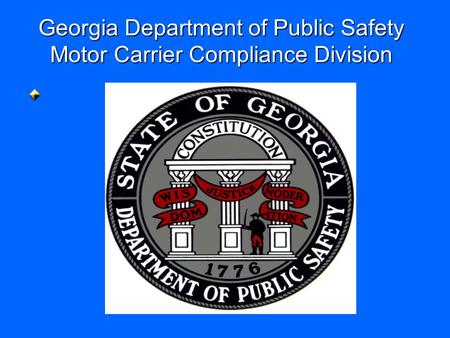 Georgia Department of Public Safety Motor Carrier Compliance Division.