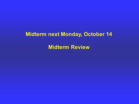 "Midterm next Monday, October 14 Midterm Review. What is structural geology? - Study of rock deformation, ""the study of the architecture of the Earth's."