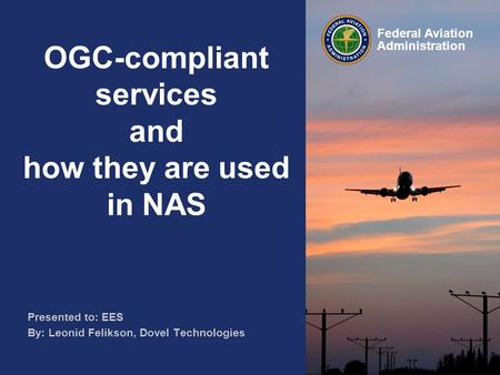 OGC-compliant services and how they are used in NAS