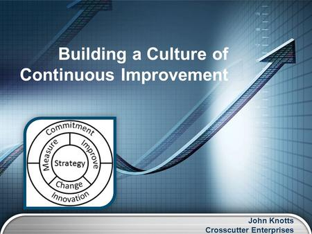 John Knotts Crosscutter Enterprises Building a Culture of Continuous Improvement.
