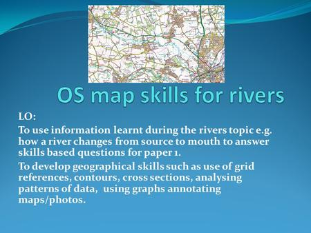 OS map skills for rivers