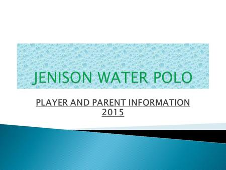 PLAYER AND PARENT INFORMATION 2015.  JH Head Coaches: Nicole Redder:  Alex Rabideau: