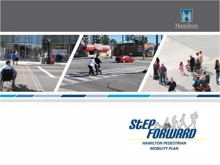 Plan Purpose:  To provide pedestrian environments that are safe, attractive, and accessible to community institutions, employment and retail services.