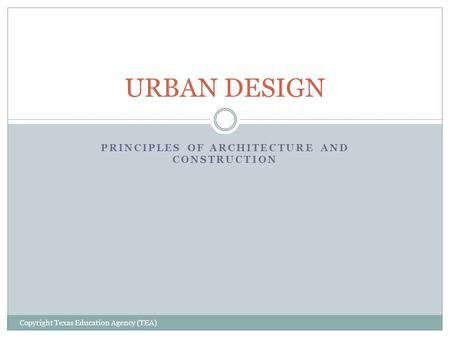 Principles of Architecture and Construction
