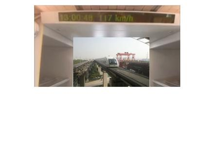 This is a video that shows the acceleration of the MagLev train in Shanghai, China. It is currently the fastest train in the world (it has been tested.
