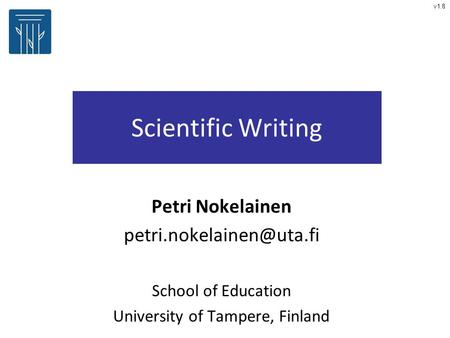 thesis scientific writing Discussion of theses and dissertations in the writing guidelines for engineering and science students: guidelines to help students of science and engineering make their writing more efficient for others to read and to make the process of writing more efficient for them to perform.