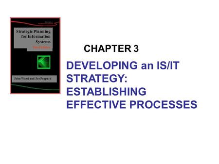 DEVELOPING an IS/IT STRATEGY: ESTABLISHING EFFECTIVE PROCESSES