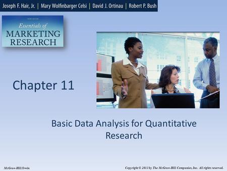 Basic quantitative analysis for marketing