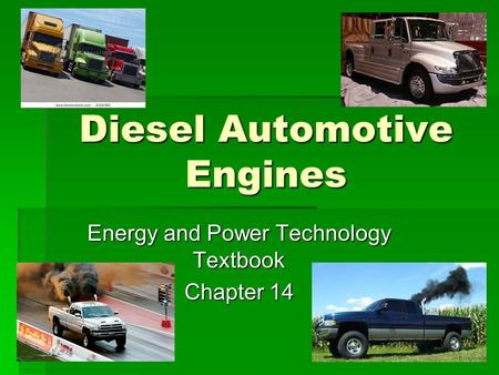 Diesel Automotive Engines