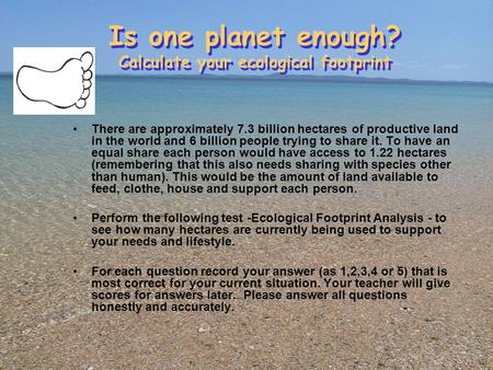 our ecological footprint reducing human impact on the earth pdf