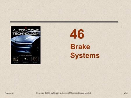 46 Brake Systems Chapter 46.