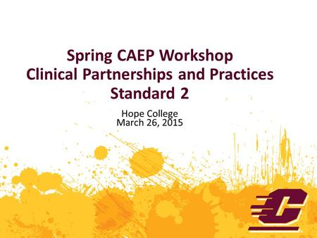 Spring CAEP Workshop Clinical Partnerships and Practices Standard 2 Hope College March 26, 2015.