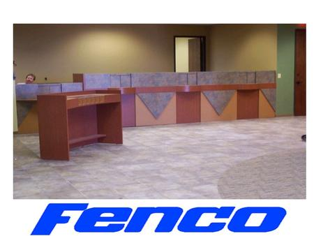 When You Purchase From FENCO, You Are Purchasing From A Company Who Understands Financial Industry Standards in Teller Counter Design. FENCO understands.
