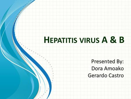 H EPATITIS VIRUS A & B Presented By: Dora Amoako Gerardo Castro.
