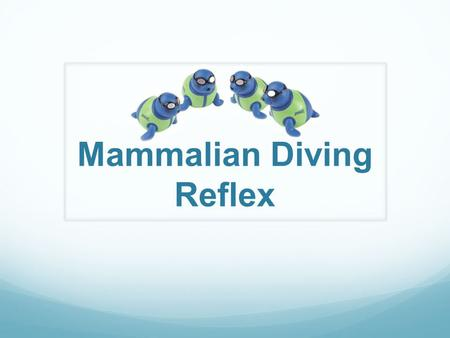 Mammalian Diving Reflex. Cardiovascular System Functions: Supply needed materials Remove Wastes Prevent disease Example: Blood carries oxygen from your.