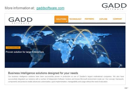 Page 1 More information at; gaddsoftware.comgaddsoftware.com.