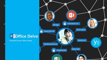 Office Delve Powered by the Office Graph. Stay In the Know Find What you Need Discover New Connections Connect with the right experts and learn more about.