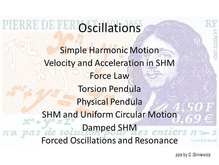 Oscillations Simple Harmonic Motion Velocity and Acceleration in SHM