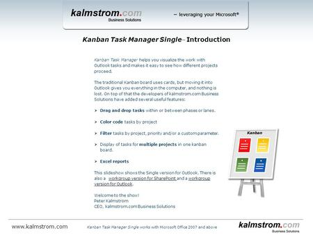 Kanban Task Manager Single‒ Introduction