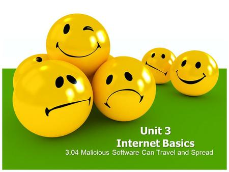 3.04 Malicious Software Can Travel and Spread Unit 3 Internet Basics.