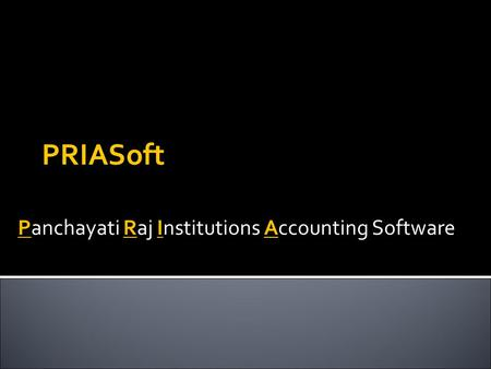 Panchayati Raj Institutions Accounting Software