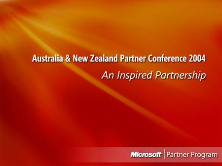 Microsoft Partner Conference 2004