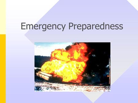 Emergency Preparedness. Potential Emergencies at Cummins Types – Fire Serious injury (loss of life or limb) Tornado, flood, severe weather Large chemical.