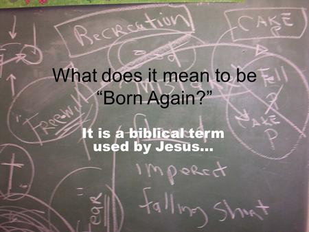 "What does it mean to be ""Born Again?"""
