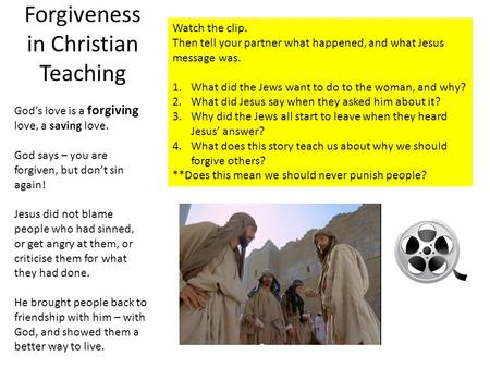 Forgiveness in Christian Teaching