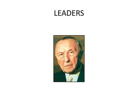 LEADERS. ___________ DOCTRINE Soviet Leaders END OF COMMUNISM.