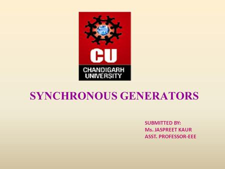SYNCHRONOUS GENERATORS