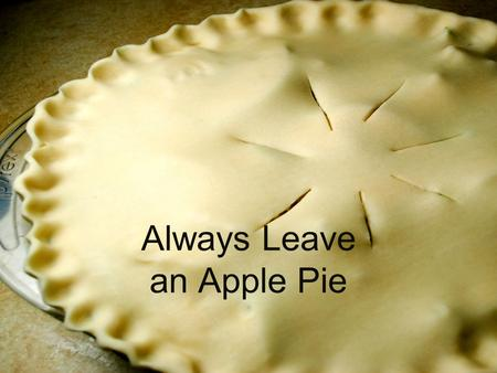 Always Leave an Apple Pie. 21st Century Education in Lutheran Schools Mission Impossible?