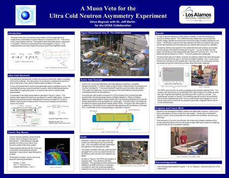 A Muon Veto for the Ultra Cold Neutron Asymmetry Experiment Vince Bagnulo with Dr. Jeff Martin Electrons Ultra Cold Neutrons Cosmic Ray Muons Protons Pions.