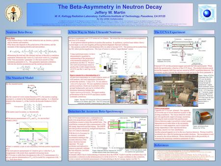 The Beta-Asymmetry in Neutron Decay Jeffery W. Martin W. K. Kellogg Radiation Laboratory, California Institute of Technology, Pasadena, CA 91125 for the.