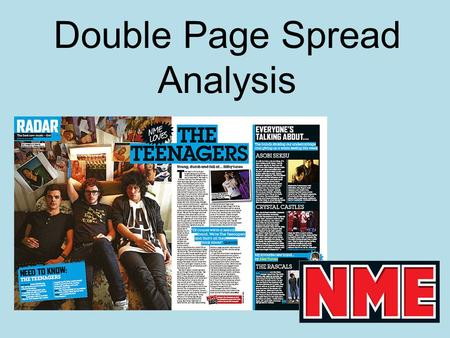 Double Page Spread Analysis. Article Title Slug Leading Text White Space Body Text Anchor Side Bar Caption.