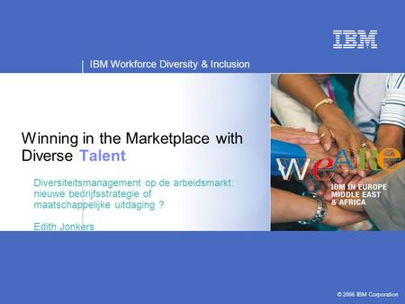 Winning in the Marketplace with Diverse Talent
