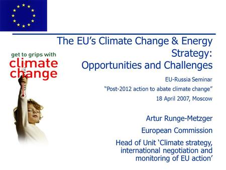 "EU-Russia Seminar ""Post-2012 action to abate climate change"""