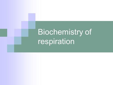 Biochemistry of respiration. Raw materials… Any organic molecule Carbohydrate Lipid Protein.