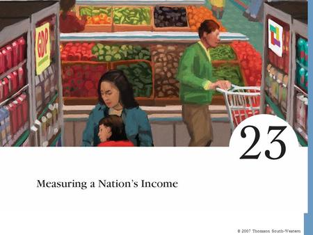 © 2007 Thomson South-Western. Measuring a Nation's Income Microeconomics is the study of how individual households and firms make decisions and how they.
