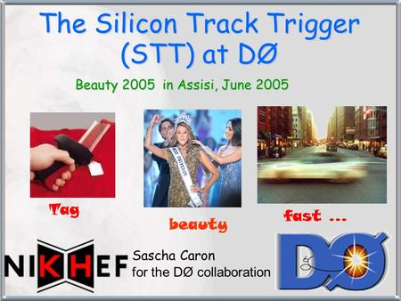 The Silicon Track Trigger (STT) at DØ Beauty 2005 in Assisi, June 2005 Sascha Caron for the DØ collaboration Tag beauty fast …