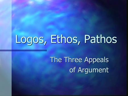 The Three Appeals of Argument