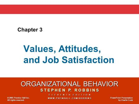 organizational behavior robbins 13e chapter 5 Organizational behavior (15th edition) author: stephen p robbins welcome to the fifteenth edition of organizational behavior the following sections of each chapter are new to the fifteenth edition: • opening vignette • myth or science .