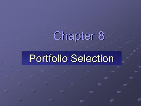 investments final chapter 8 Disclosures of investments 21 8, 9 5  this material is dealt with in an appendix to the chapter  questions chapter 17 (continued) 12 investments in equity.