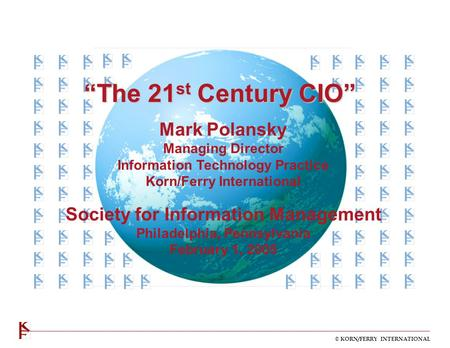 """The 21st Century CIO"" Mark Polansky"