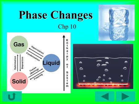 Phase Changes Chp 10. Phase Diagrams Phase diagram = relates physical states of matter (solid, liquid, gas) to temperature and pressure.